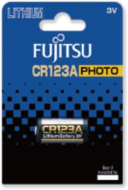 Fujitsu CR123A/3V Lithium batterij