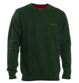 Deerhunter Hastings o-neck green trui met ronde hals