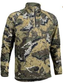 Swedteam Veil Half zip Desolve camouflageshirt met lange mouw