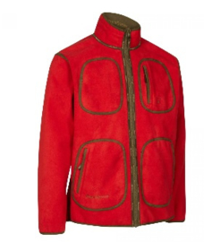 Deerhunter Gamekeeper reversible fleece jacket 5526 rood naar groen