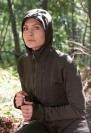 Hubertus Arctic dames fleece vest met capuchon