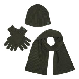 Deerhunter 3-pcs Winter set muts, sjaal en handschoenen