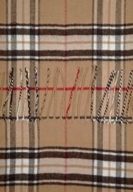 Skogen Burberry beige geruite sjaal