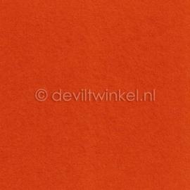 Wolvilt Oranje -  90 bij 100 cm