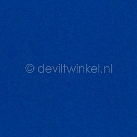 Wolvilt Koningsblauw, 45 cm breed, per halve meter.