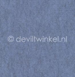 Wolvilt Gemêleerd Blauw - 45 bij 90 centimeter