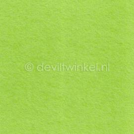 Wolvilt Lichtgroen - 1 mm dik, Losse lap van 45 bij 46 cm