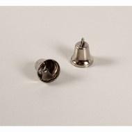 Klokje zilverkleurig 11 mm, 3 stuks.