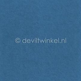 Wolvilt Middenblauw - 45 bij 90 centimeter