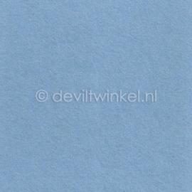 Wolvilt Licht Blauw 20 bij 30 cm.