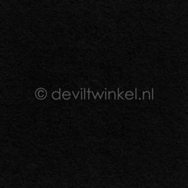 Wolvilt 3 mm, Zwart, 22 bij 30 cm