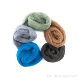 Europese Merino Lontwol - Kleurenset 11 - Mixed Colors