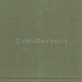 Wolvilt Groengrijs -  90 bij 100 cm