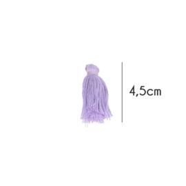 Kwastjes mat, 4,5cm, Licht paars