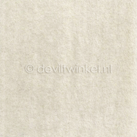 Wolvilt Ecru, 2 mm, 183 bij 100 cm