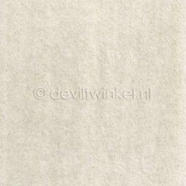 Wolvilt (1 mm dik) Ecru - 45 bij 62 centimeter
