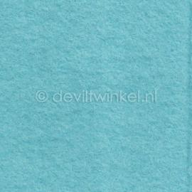 Wolvilt Ijsblauw, 45 cm breed, per halve meter.