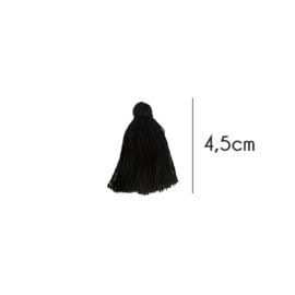 Kwastjes mat, 4,5cm, Zwart