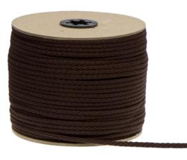 Katoenen Koord, Donker bruin, 5 mm