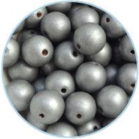 Houten kraal 16mm, Zilver. 5 stuks
