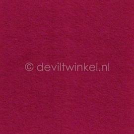 Wolvilt Framboos Roze -  90 bij 100 cm