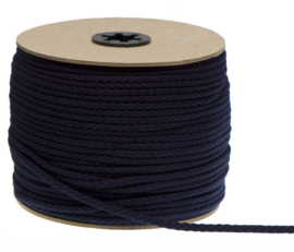 Katoenen Koord, Donker blauw, 5 mm