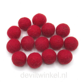 Wolkralen: Rood 2,2 cm