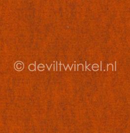 Wolvilt Gemêleerd Oranje - 90 bij 100 cm