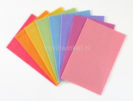 Wolvilt pakket, Regenboog pastel