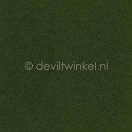 Wolvilt Donker Bladgroen -  90 bij 100 cm