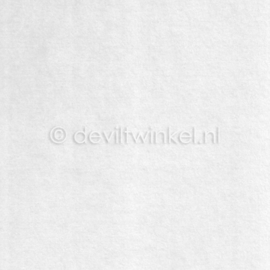 Wolvilt 3 mm, Wit, 22 bij 30 cm