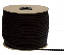 Katoenen Koord, Zwart, 5 mm