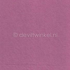 Wolvilt Oud Roze -  90 bij 100 cm