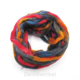 Meerkleurig wol | Oranje-Rood-Grijs