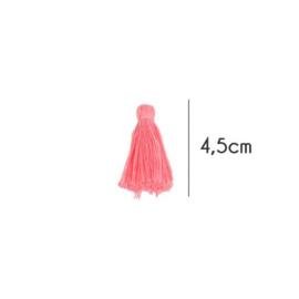 Kwastjes mat, 4,5cm, Oud roze