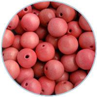 Houten kraal 16mm, Roze. 5 stuks