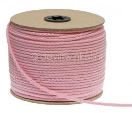 Katoenen Koord, Roze, 5 mm
