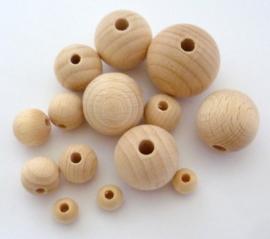 Blank houten kraal 20 mm