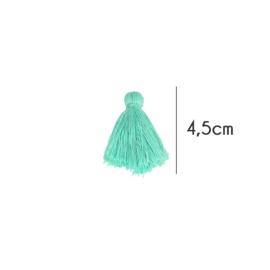 Kwastjes mat, 4,5cm, Turquoise