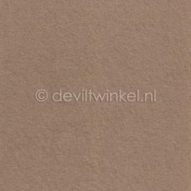 Wolvilt Donker Beige -  90 bij 100 cm