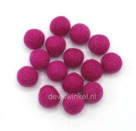 Wolkralen: Framboos Roze 2 cm