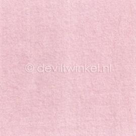 Wolvilt Licht Roze, 45 cm breed, per halve meter.