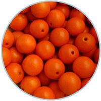Houten kraal 16mm, Oranje. 5 stuks