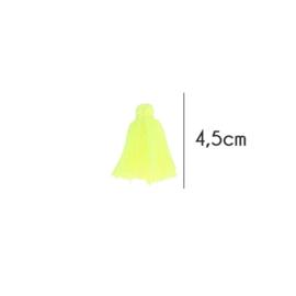 Kwastjes mat, 4,5cm, Fel geel