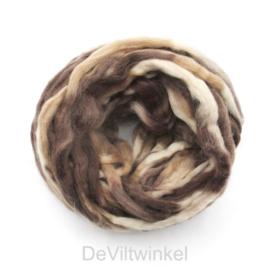 Meerkleurig wol | Naturel-Bruin-Beige