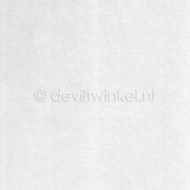 Wolvilt Wit - 45 bij 90 centimeter