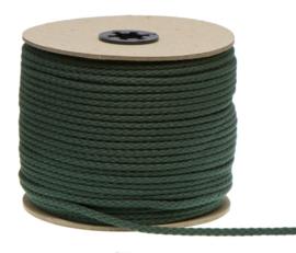 Katoenen Koord, Donker groen, 5 mm