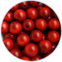Houten kraal 16mm, Rood. 5 stuks