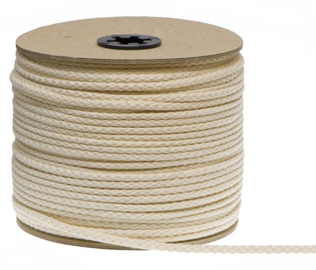 Katoenen Koord, Ecru, 3 mm