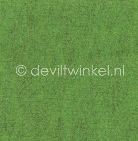 Wolvilt Gemêleerd Groen -  90 bij 100 cm